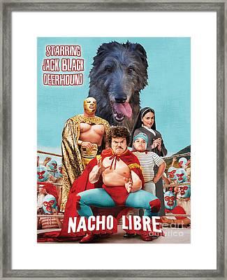 Scottish Deerhound Art - Nacho Libre Movie Poster Framed Print by Sandra Sij