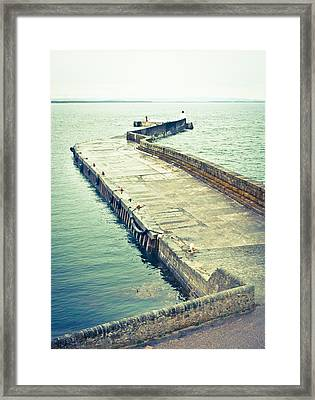 Scottish Harbour Framed Print