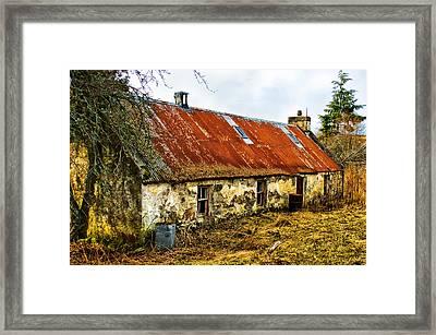 Scottish Highland Croft Framed Print by Jacqi Elmslie