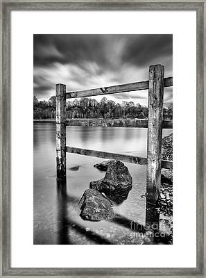 Scottish Loch With Fence Framed Print