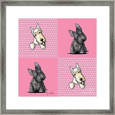 Scottish Quilt Framed Print by Kim Niles