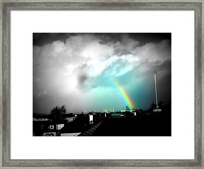 Scottish Rainbow Framed Print