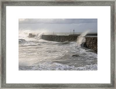 Scottish Sea Storm Framed Print by Jeremy Voisey