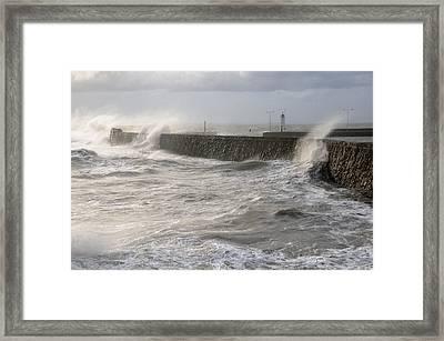 Scottish Sea Storm Framed Print