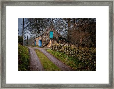 Scottish Stone Barn Framed Print