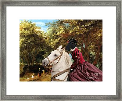 Scottish Terrier Art - Pasague With Horse Lady Framed Print by Sandra Sij