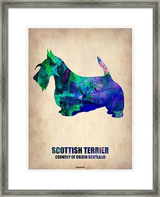 Scottish Terrier Poster Framed Print by Naxart Studio