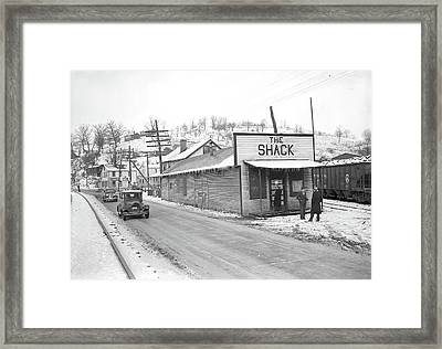 Scotts Run, West Virginia. The Shack Community Center - Framed Print by Litz Collection