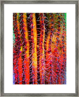 Framed Print featuring the mixed media Scottsdale Saguaro by Michelle Dallocchio
