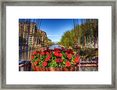 Scottsdale Waterfront Framed Print by Fred Larson