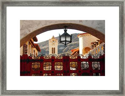 Scotty's Castle, Grapevine Mountains Framed Print by Michel Hersen