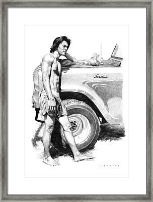 Scout Framed Print by Douglas Simonson