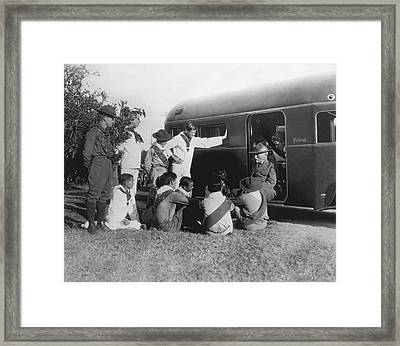 Scout Founder Dan Carter Beard Framed Print by Underwood Archives