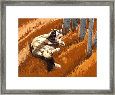 Scout In Autumn Framed Print