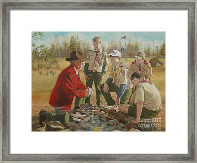 Scout Master's Legacy Framed Print by Angela S Williams