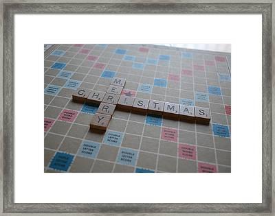 Scrabble Merry Christmas Framed Print