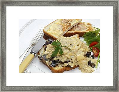 Scrambled Egg With Mushrooms Meal Framed Print by Paul Cowan