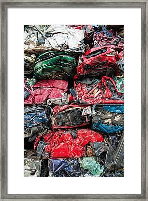 Scrap Cars Framed Print by Matthias Hauser
