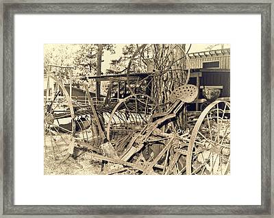 Scrap-iron Framed Print