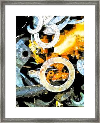 Scrap Metal Junkie Framed Print by Gwyn Newcombe