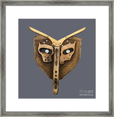 Scrap Wood Mask Framed Print