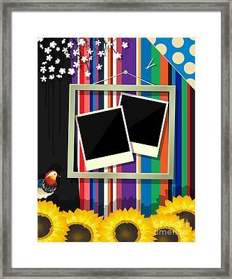 Scrapbook Frame Framed Print