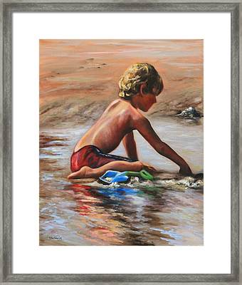 Scraping The Surface Framed Print by Eve  Wheeler
