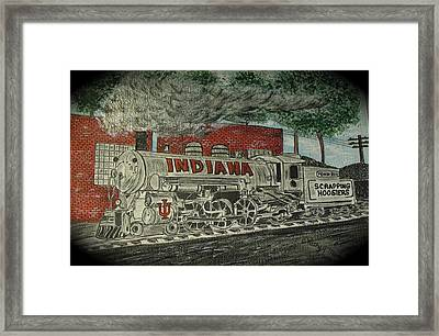Scrapping Hoosiers Indiana Monon Train Framed Print by Kathy Marrs Chandler