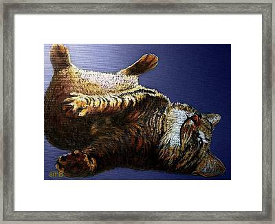 Scratch My Tummy Framed Print by Susan Bergstrom