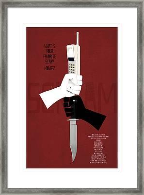 Scream Alternative Poster Framed Print