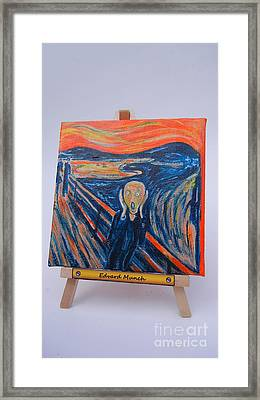 Framed Print featuring the painting Scream by Diana Bursztein