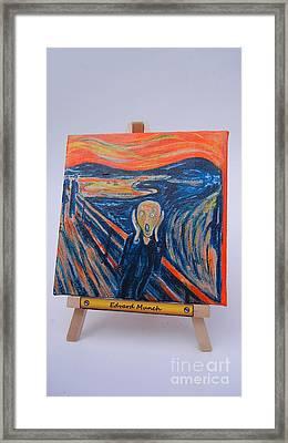 Scream Framed Print by Diana Bursztein