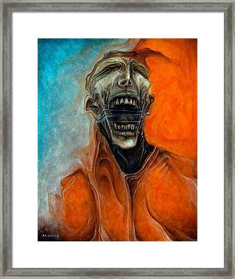 Scream Till No One Hears You Framed Print by Robert Anderson