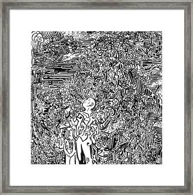 Scream Framed Print by Zachary Worth