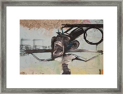 screaming Monkey Framed Print by Jan Katuin