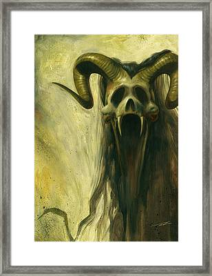 Screaming Skull Framed Print by Alan Lathwell