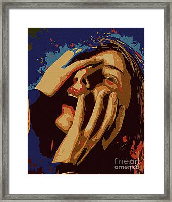 Screams Framed Print by Pedro L Gili