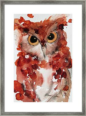 Screech Framed Print by Dawn Derman