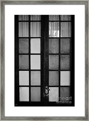 screen door in traditional old house in the barrio paris londres Santiago Chile Framed Print by Joe Fox