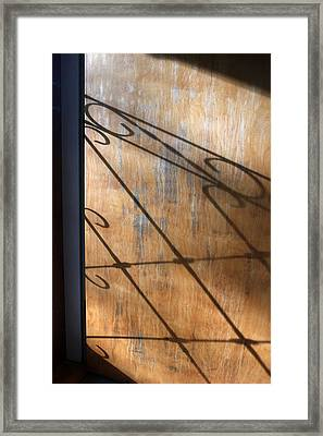 Screen Door Shadow Framed Print by Mary Bedy