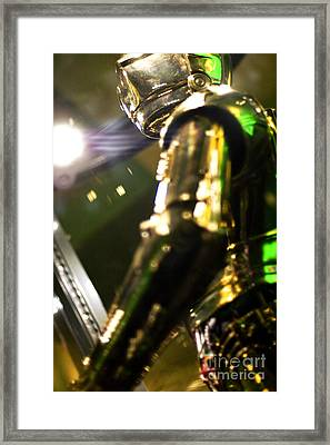 Screen Worn C3p0 Costume Framed Print by Micah May