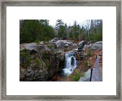 Screw Auger Falls Framed Print by Greg Jeffery