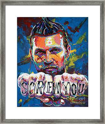 Screw You Framed Print by Maria Arango