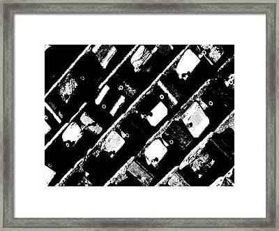 Screwed Metal Tab Abstract Framed Print