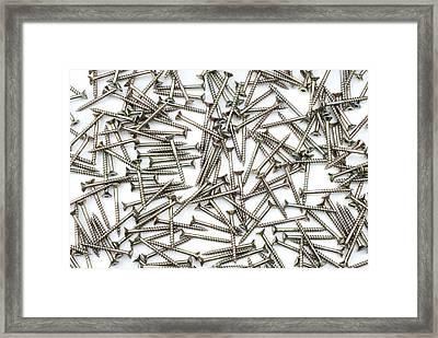 Screws Framed Print