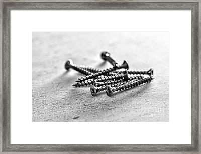 Screws Framed Print by Jim Orr