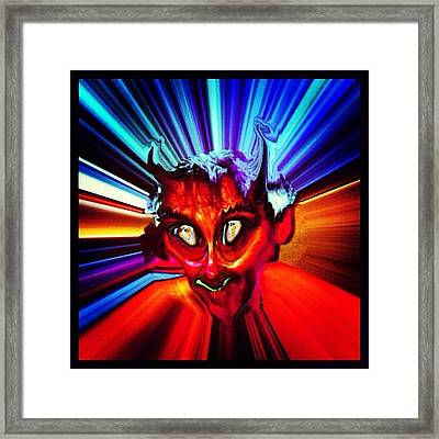 Screwtape - A Younger Novice Devil Framed Print by Urbane Alien