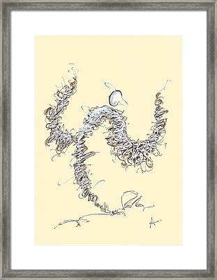 Scribble Angel 1 Framed Print