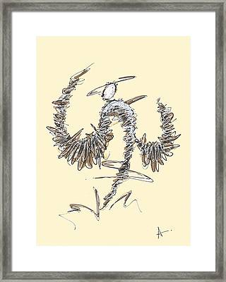 Scribble Angel 2 Framed Print
