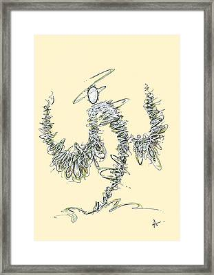 Scribble Angel 3 Framed Print